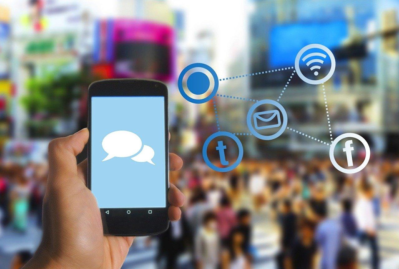 smartphone, mobile phone, social media icon